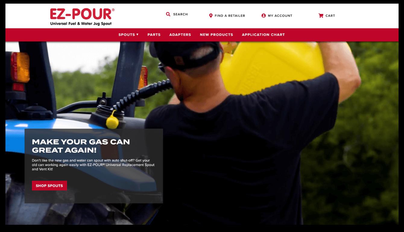 ez pour homepage screenshot