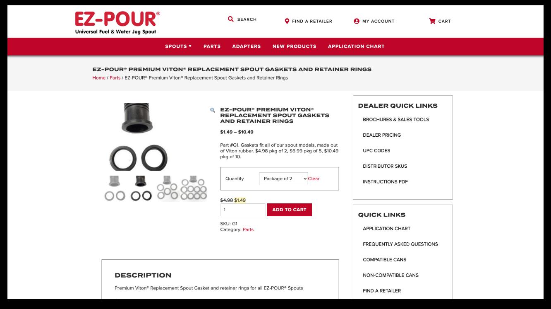 ez pour product page screenshot