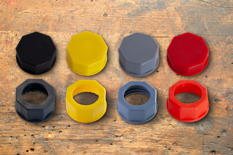 EZ-POUR base caps and solid base caps